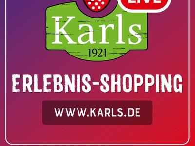 Erlebnis-Shopping Live-Show quadratisch